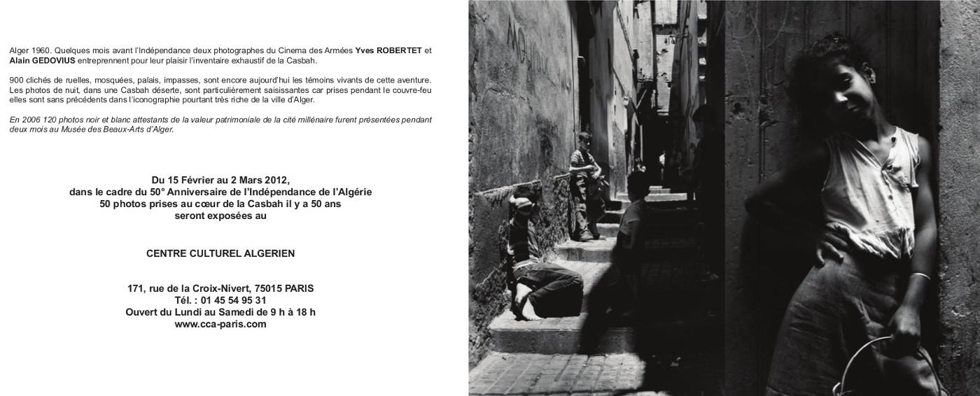 Expo Casbah 1960, Centre Culturel Algerien, Paris 2012