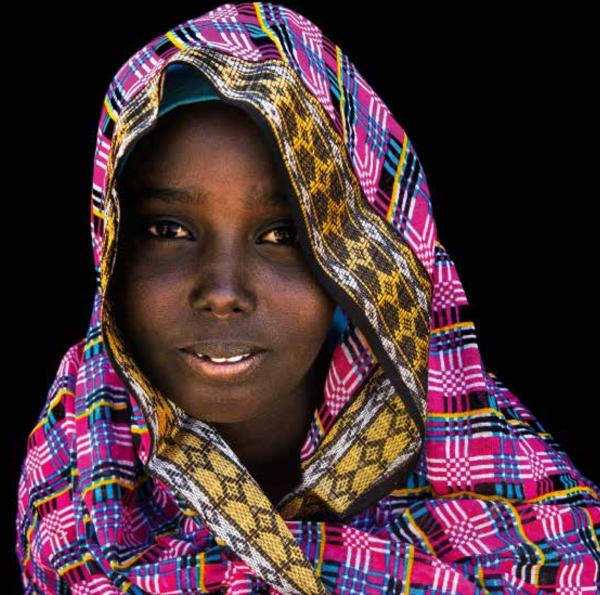 Jeune filla Afar, région du lac Abhé, Djibouti