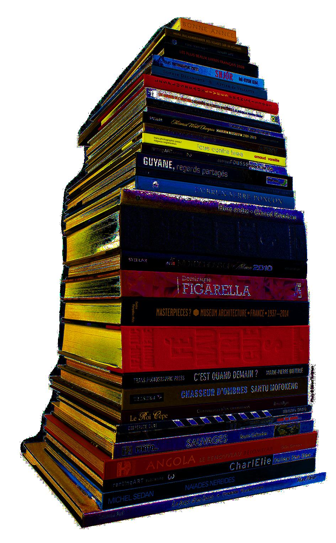 Escourbiax, pyramide de livres