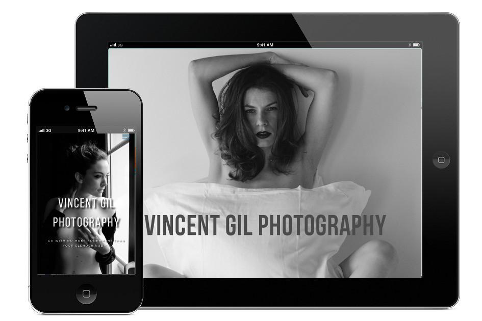 vincentgil.com, site web responsive