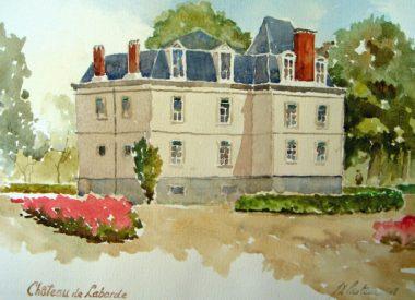 Château de Laborde, aquarelle