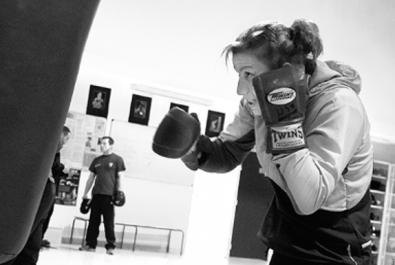 Farida El Hadrati, punching-ball