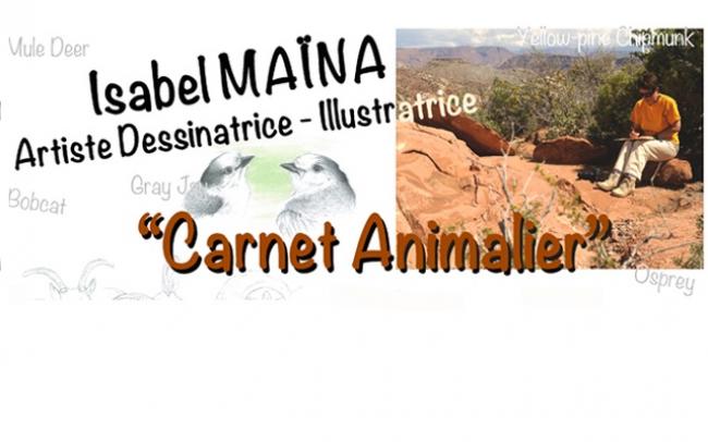 Projet Carnet Animalier, Isabel Maïna