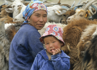 Sur la route du lait, enfant, Mongolie, photo d'Emmanuel Mingasson