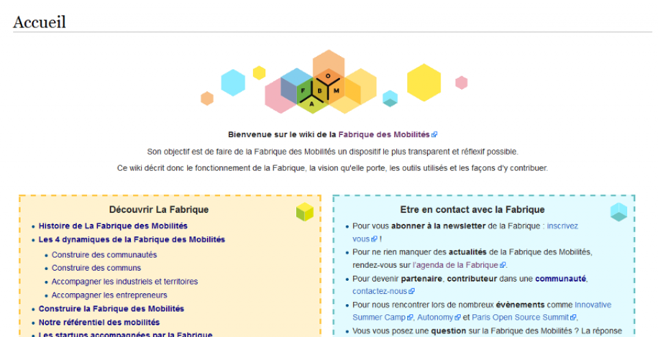 Wiki de la communauté de la Fabrique des Mobilités