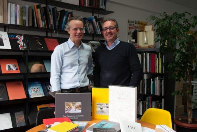 Alain Escourbiac et John Briens, Escourbiac l'imprimeur, rue Marcadet, Paris 18ème